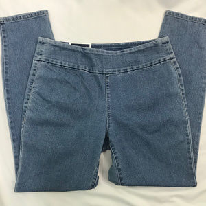 Medium Wash Pull On Cambridge Skinny Ankle Jeans